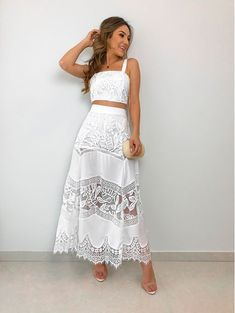 Moda 2019 Tendencias Vestidos Juveniles 53 New Ideas Cute Dresses, Casual Dresses, Fashion Dresses, Formal Dresses, White Outfits, Summer Outfits, Summer Dresses, Pinterest Fashion, Feminine Style