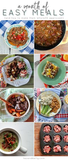 A Month of Whole30 Meals | tazandbelly.com