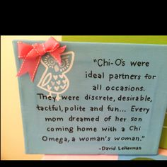 Chi Omega little present