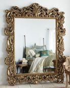large gilded mirror, so artsy!