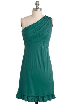 Midnight Sun Dress in Teal: For your vacation to Scandinavia you know exactly what to wear to celebrate the late night sunshine! As you exult in the evening glow this frock's cute ruffl… Unique Dresses, Pretty Dresses, Casual Dresses, Teal Dresses, Dress Outfits, Fashion Dresses, Retro Vintage Dresses, 1960s Fashion, High Fashion