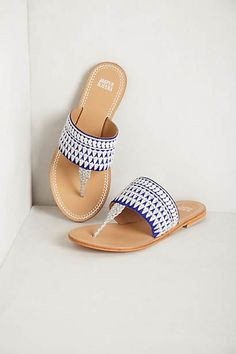 needlework sandals // anthropologie