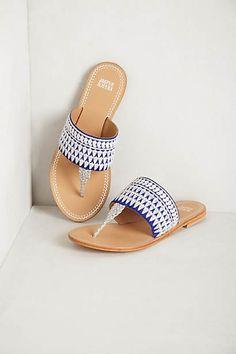 needlework sandals $39.95