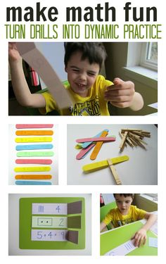 Creative ways to do math drills- ideas are for kindergarten, but would work for older grade for their math facts review