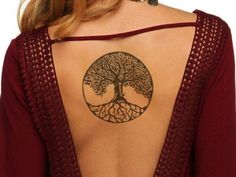 Absolutely Superb Celtic Tree Tattoo on Back for Women Love Life Fun Pretty Tattoos, Love Tattoos, Sexy Tattoos, Beautiful Tattoos, Body Art Tattoos, Small Tattoos, Tattoos For Women, Tattoos For Guys, Celtic Tattoo For Women