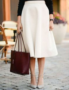 As far as fashion trends go, the midi skirt is the great equalizer in that it works on anyone--and is appropriate for any occasion. Bust out your trusty fit-and-flare one or try this season's popular wrap style for an extra-slimming effect (see next).