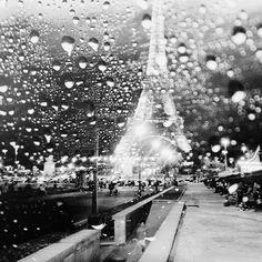 rainy lens in paris