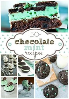 50  Amazing Mint Chocolate Dessert Recipes - From all my fav bloggers... diycozyhome.com/...