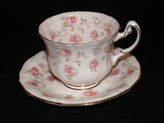 Royal Adderley Teacup and Saucer Harmony Rose Circa C 1955-1964