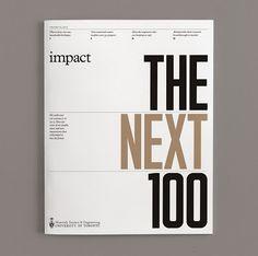 Cómo nos gustan las revistas que realmente saben trabajar con typos. El resultado final de esta publicación es brutal y el culpable de este genial trabajo es el diseñador Mark Neil Balson. Impact Magazine.