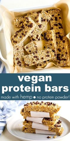 Protein Bars Recipe made with hemp seeds and that are completely vegan,. - High Protein Homemade Protein Bars -Homemade Protein Bars Recipe made with hemp seeds and that are completely vegan,. Vegan Protein Snacks, Low Carb Protein Bars, Protein Bar Recipes, Protein Cake, Protein Powder Recipes, Protein Cookies, Snack Recipes, Protein Muffins, Protein Foods
