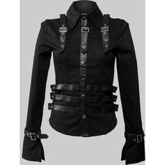 Gloria Patri - gothic military shirt for women