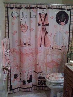 Teenage Girl Bathrooms, Teen Girl Bedrooms, Teen Bathroom Decor, Small Bathroom, Bathroom Ideas, Bathroom Designs, Paris Theme Bathroom, Bedroom Decor, White Bathroom