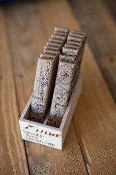 """youreyesblazeout: """" Twenty-four Blackbirds handmade chocolates """""""