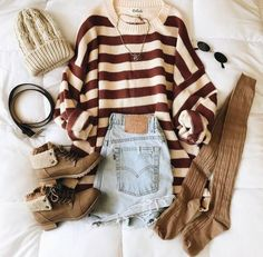22 Cute Casual Back To School Outfits for high school Girls - Inspired Beauty - High school outfits - Back School Outfits, Outfits For Teens, Winter Outfits, Work Outfits, Fashion Advice, Fashion Outfits, Fashion Women, Fasion, Vogue Fashion