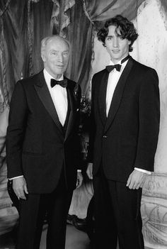 Pierre Trudeau with son Justin.