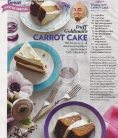 of iris flower Duff Goldman's carrot cake. of iris flower Cupcake Recipes, Baking Recipes, Cupcake Cakes, Dessert Recipes, Chef Recipes, Baking Tips, Duff Goldman Cakes, Easy Birthday Desserts, Homemade Cakes