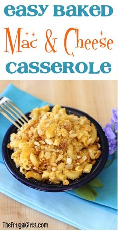 Easy Baked Macaroni and Cheese Casserole Recipe! ~ from TheFrugalGirls.com ~ get ready for Comfort Food to the Max with this easy dinner casserole! #casseroles #recipes #thefrugalgirls