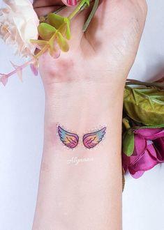 Dad Tattoos, Girl Tattoos, Tatoos, Mehndi Designs, Tattoo Designs, Tattoo Ideas, Pastel Tattoo, Tiny Tattoos For Girls, Watercolor Tattoo