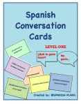 Good way to get students talking in Spanish by using these Spanish Conversation Cards. Available for all levels.