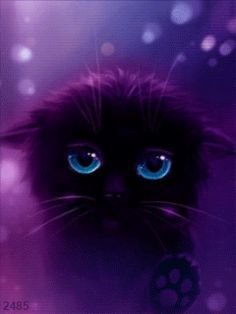 Image Result For Cute Anime Black Cat Cute Anime Cat Anime Cat Cute Animals