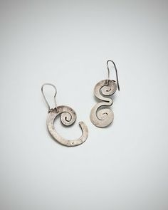 UNTITLED EARRINGS, CIRCA 1950 Archive number A23966 Initials E and C silver 2.9 x 1.9cm