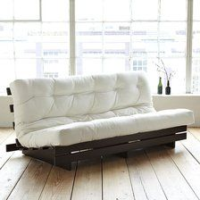 Futon Frame - Lays Flat for Bed/Converts to Chaise