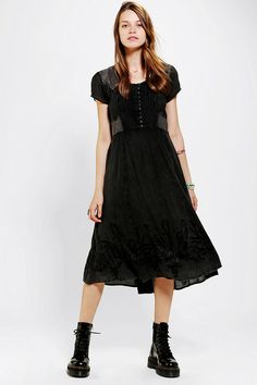 #UrbanOutfitters          #Women #Dresses           #leng #insets #shoulders #crinkled #breezy #manic #scoopneck #gauze #button-down #con #shine #midi #sides #hem #sheer #mesh #zip #complete #side #dress     We All Shine By MINKPINK Manic Mesh Midi Dress      Breezy, crinkled gauze dress from We All Shine by MINKPINK. Topped with sheer mesh insets along the shoulders and sides. Complete with embroidered detailing along the hem and a button-down scoopneck. Mid-calf length; hidden side zip…