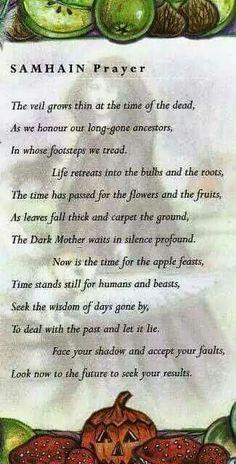 The Wheel of the Year | Samhain - Samhain Prayer