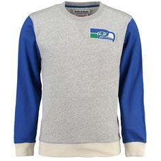 Seattle Seahawks Mitchell & Ness Team to Beat Long Sleeve T-Shirt - Gray