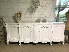 Your place to buy and sell all things handmade Painted Cottage, Shabby Cottage, Cottage Homes, Cottage Chic, Gone For Good, Glass Knobs, Paris Apartments, Sideboard Buffet, French Provincial