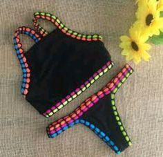 Pin by Layda on Crochet Crochet Lingerie, Crochet Bikini, Cute Swimsuits, Cute Bikinis, Crochet Clothes, Diy Clothes, Gin Fizz, Cute Bathing Suits, Halter Bikini