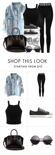"""Style #10595"" by vany-alvarado ❤ liked on Polyvore featuring Topshop, Miss Selfridge, Converse and Givenchy"