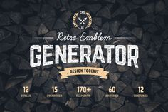 Retro Emblem Generator - Discover easy and fun way of creating vintage logo or badge in Adobe Illustrator!