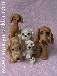Amigurumi dogs. (Inspiration).