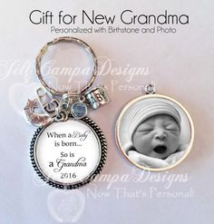 New Grandma Keychain  double sided  When a by NowThatsPersonal