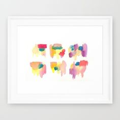 Buy 150321 Boundaries Watercolor Abstract 9 Framed Art Print by ©valourine. Worldwide shipping available at Society6.com. Just one of millions of high quality products available.
