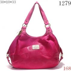 Coach Crossbody Bags in DeepPink with Pink Leather Belt