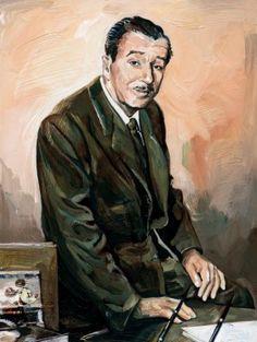 """Walt"" by Jim Salvati - Limited Edition of 195 on Hand-Embellished Canvas, 20x15.  #Disney #WaltDisney #DisneyFineArt #JimSalvati"