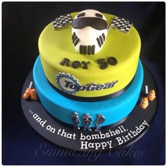 Top Gear themed cake