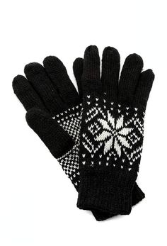 Fort Greene General Store Knit Snowflake Gloves General Store, Snowflakes, Gloves, Printed, Knitting, Snow Flakes, Tricot, Breien, Prints