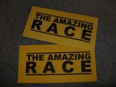 DIY Amazing Race game ideas!  Perfect for our family reunion next week!