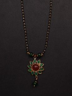Buy The Red and Green Mangalsutra  online.