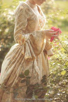 Ildiko Neer HISTORICAL GEORGIAN WOMAN IN FLOWER GARDEN Women
