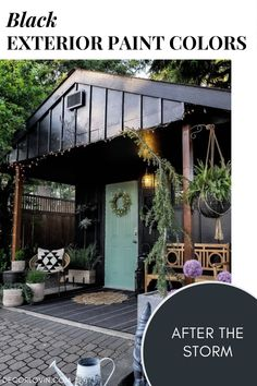 Thinking about painting your home's exterior black? Check out the best black exterior paint colors! Best House Colors Exterior, Exterior Paint Color Combinations, Best Exterior Paint, Modern Color Schemes, Exterior Color Schemes, House Paint Exterior, Exterior Paint Colors, Backyard Barn, Black Accent Walls