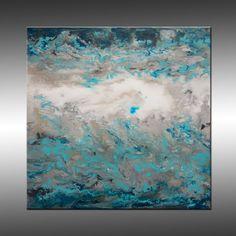 Jupiter 2 by Hilary Winfield, Original Modern Art Abstract Painting.