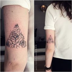 Dainty Roses Tattoo by Sunny Bhanushali in Denmark. This tattoo displays feminism at its best. Client wanted a blend of roses relished by geometry. So I thought of giving it a mod outlook rather than the regular flower look. And the output was adored by many. Share it if you like it.