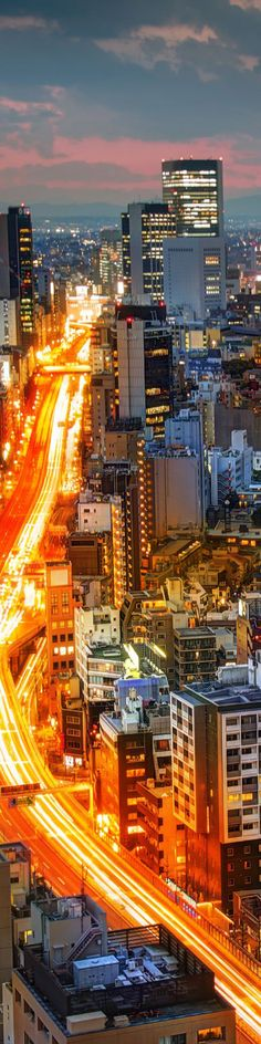 """Lava Traffic in Tokyo - from the Exhibition: """"Cropped for Pinterest"""" - photo from #treyratcliff Trey Ratcliff at http://www.StuckInCustoms.com"""