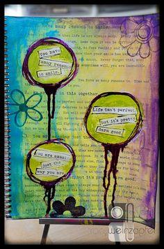 9 X 12 Art Journal Powerful Truths by Tracy Weinzapfel