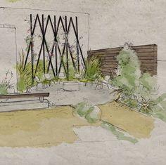 New #render for a Los Angeles project #hollisterdesignstudio #hollisterstudio #landscapedesign #landscapedesigner #plants #gardens #design #designlovers  #droughttolerant #gardendesign